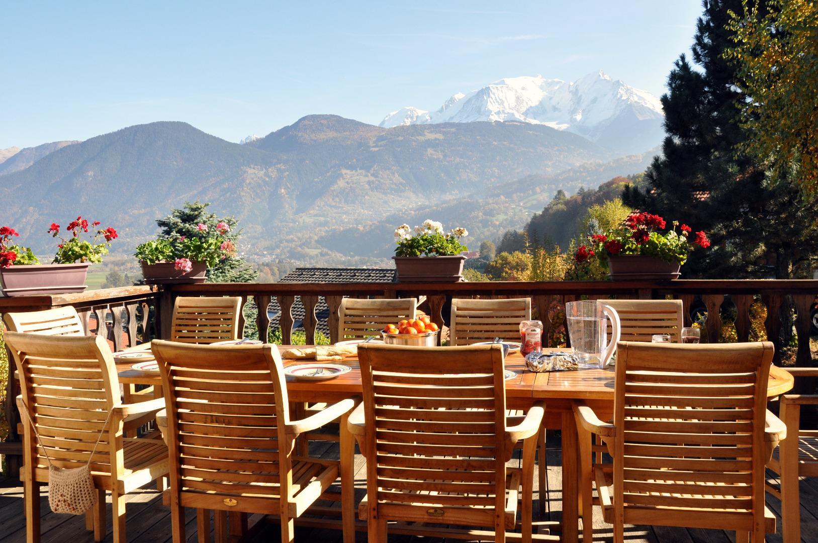 Terrasse face au Mont Blanc